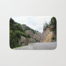 Drive Around the Curve onto a Shelf Above the Spectacular, but Frightening, Uncompahgre Gorge Bath Mat