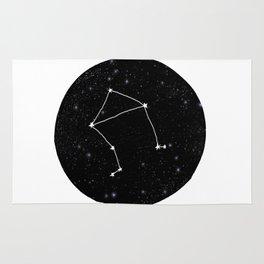 Libra minimal constellation star sign zodiac art print Rug