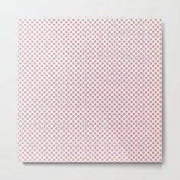 Flamingo Pink Polka Dots Metal Print