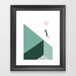 Minimal. Modern. Concept Art. Framed Art Print