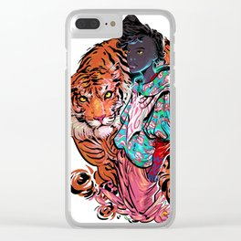 Silent Tiger Clear iPhone Case