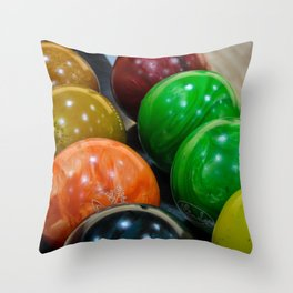Bowling Balls Throw Pillow