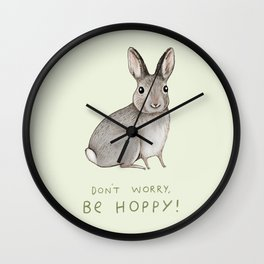 Don't Worry Be Hoppy Wall Clock