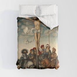 "Lucas Cranach the Elder ""Crucifixion"" Comforters"