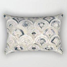 Monochrome Art Deco Marble Tiles Rectangular Pillow