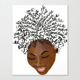 My Afro Speaks Canvas Print
