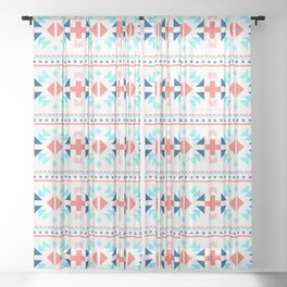 geometry navajo pattern Sheer Curtain