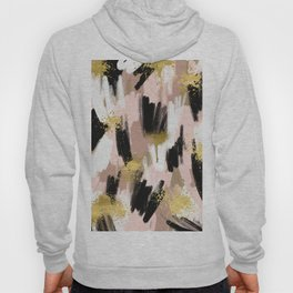 Blush and Gold Abstract Hoody