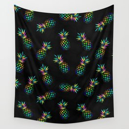 Iridescent pineapples Wall Tapestry