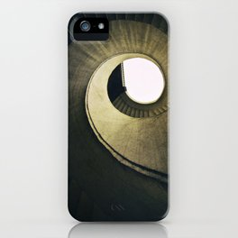 Spiral stairs in warm tones iPhone Case