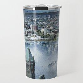 Earth Falls Away Travel Mug