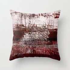Marsala Red Throw Pillow
