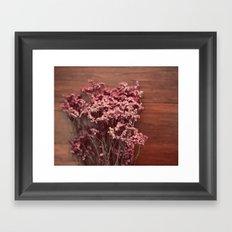 Vintage Purple Flowers Framed Art Print