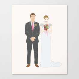 This $75 Custom Portrait Is the Most Thoughtful Wedding Gift Ever Canvas Print