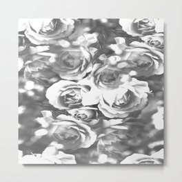 Roses In Black And White #decor #society6 #buyart #homedecor Metal Print