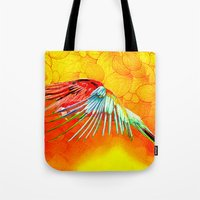 parrot Tote Bags featuring Parrot by Ganech joe