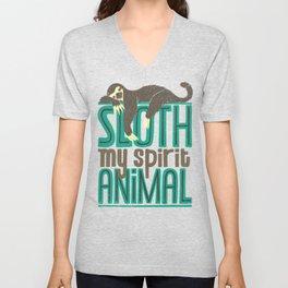 Sloth Is My Spirit Animal Unisex V-Neck