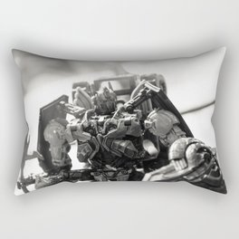 """Knights. Autobots. This cannot & will not be the end"" Rectangular Pillow"