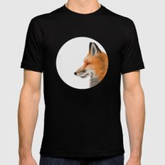 Mr. Fox Mens Fitted Tee Black SMALL