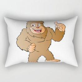 Bigfoot cartoon Rectangular Pillow