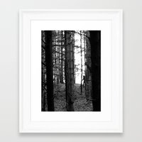 bigfoot Framed Art Prints featuring Bigfoot by Ryan Greaves
