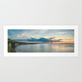 White rocks beach,ireland,Northern Ireland,Portrush Art Print