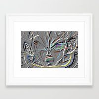 vegeta Framed Art Prints featuring vegeta shout by codradical