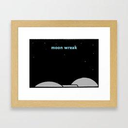 Moon Wreak Framed Art Print