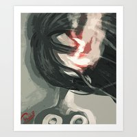 Fading into darkness Art Print