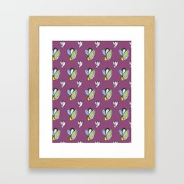 Purple Urple Print Framed Art Print