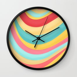Candy Curves Wall Clock