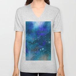 3D Galaxy Pattern Unisex V-Neck