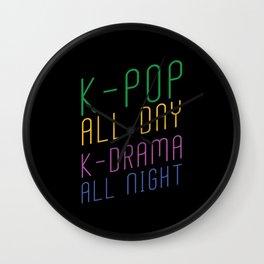 K-pop K-drama Wall Clock