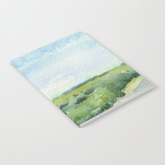 Sky and Grass Landscape Watercolor Notebook
