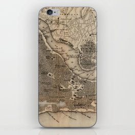 Vintage Map of Constantinople (1859) iPhone Skin