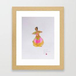 Theja's Bharathanatyam Framed Art Print