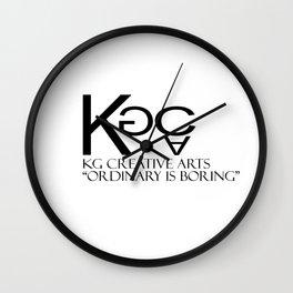 KG Creative Arts Logo Wall Clock