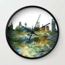 Buffalo New York Skyline Wall Clock