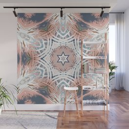 Tribe Coral and Steel Wall Mural