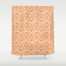 mala, african tribal pattern tangerine Shower Curtain