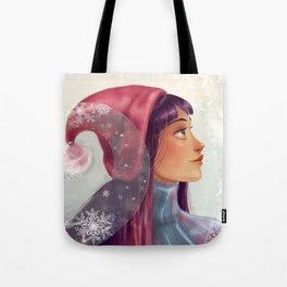 Snow spiral Tote Bag