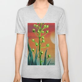 Wild plant at sunset Unisex V-Neck