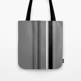 Gray Stripes Abstract Tote Bag