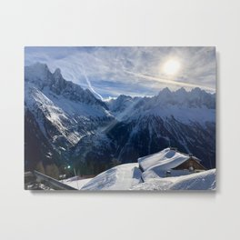 Winter Sun \\  French Alps Metal Print