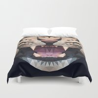 leopard Duvet Covers featuring LEOPARD by swtdrw