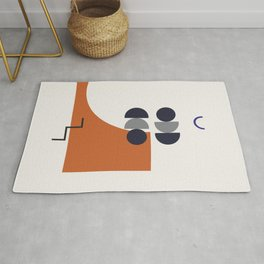 Abstract Shapes - Autumn Rug
