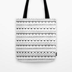White&Black pattern Tote Bag