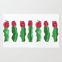 Cactus in Red & Green Rug