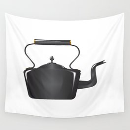 Victorian Cast Iron Kettle Wall Tapestry