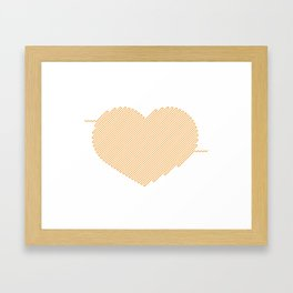 Heart Circuit Framed Art Print